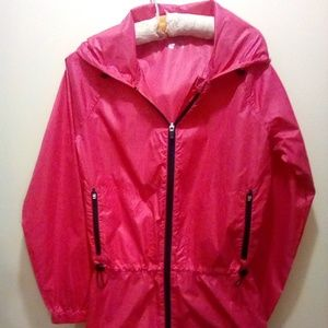 Exertek Women's Pink and Black Hooded Windbereaker